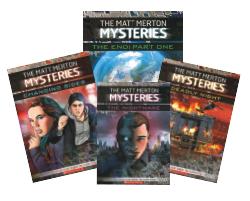 The Matt Merton Mysteries Covers