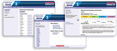 Image of web-based management system screens