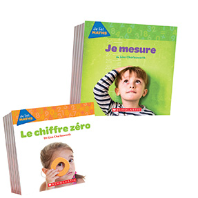 Covers of two Je lis ! Maths books: Je mesure and Le chiffre zéro