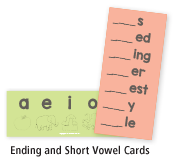 Ending and Short Vowel Cards