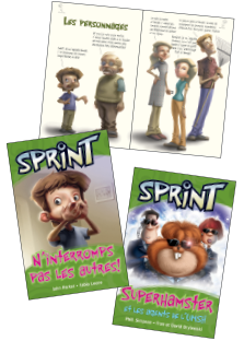 Sprint book covers and interior spread